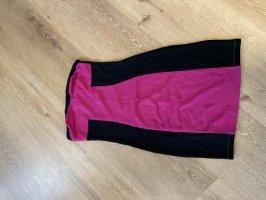 C&A Basics Sweat Dress black-raspberry-red