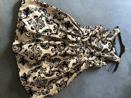 Yessica Vestido con enagua color oro-negro