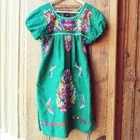 Moda Frida Strandjurk groen