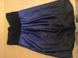 Ambiance Robe épaules nues bleu acier-violet foncé