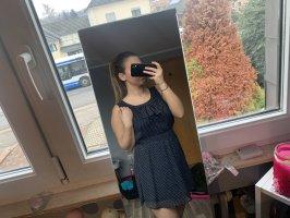 100% Fashion Mini-jurk donkerblauw-beige