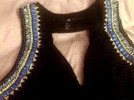 H&M Vestido elástico negro