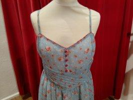Kleid im Retrostil mit Blumen von Eucalyptus - Gr. M-L - neu!