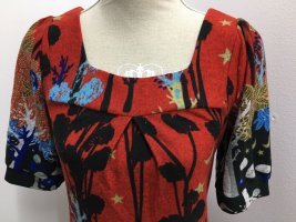 Lavand Vestito di lana rosso mattone-nero