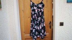 Cheer Flounce Dress black-pink viscose