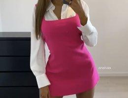 Kleid mit Samthemd