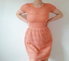 Kleid Orange Spitze Gr. S