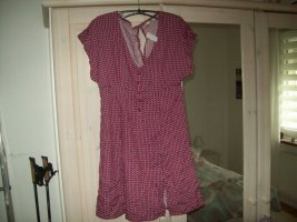 Kleid Sommerkleid rot-gemustert Clockhouse Gr. 38