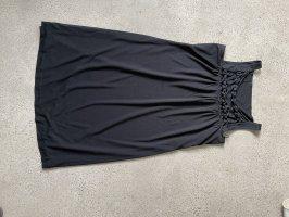 Strenesse Vestido de tela de jersey negro
