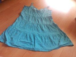 Kleid türkis Gr. 46 100% Baumwolle