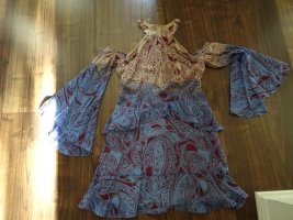 BCBG Maxazria Flounce Dress multicolored polyester