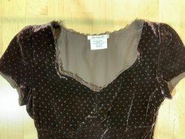 L.k. bennett Empire Dress dark brown-azure