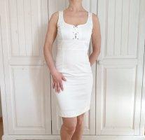 Kleid weiß sommerkleid dress partykleid 34 sexy rock Oberteil top tunika