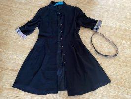 Burberry Robe manteau noir-crème