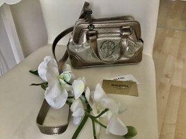 Klein aber fein . Original Tasche der Marke Goldpfeil . Abnehmbare Riemen. Farbe Taube ,Silber glänzend. Top Zustand.