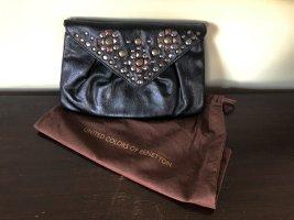 Kleine Clutch Handtasche Umhängetasche mit Nieten von United Colors of Benetton schwarz