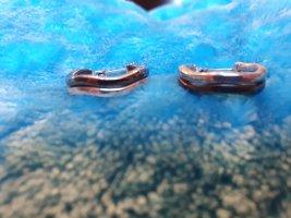 Torebki Creole srebrny-antracyt Tkanina z mieszanych włókien