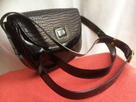 Kleine echte Escada Leder Tasche, schwarz, verstellbarer Riemen, ungetragen