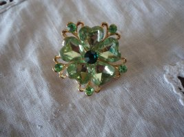 Brooch lime-green