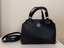 Kleine Handtasche Tommy Hilfiger, Leder, schwarz