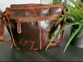 Kleine Leder Handtasche im Vintage Look