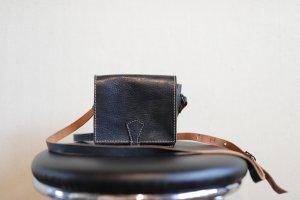 Mini Bag dark blue leather
