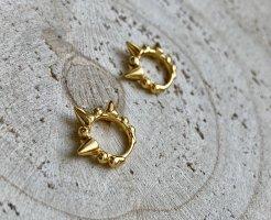 Kleine nieten Creolen Silber 925 vergoldet