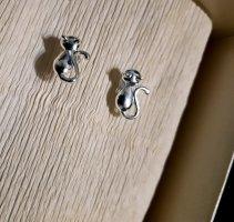 Kleine Ohrstecker 925 Sterling Silber Katzen Ohrringe