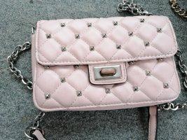 Kleine Rosa Tasche mit silber Strasssteinchen