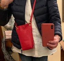 Börse in Pelle Étui pour téléphone portable rouge clair