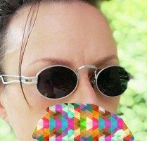 kleine Sonnenbrille, stumpfer Alulook, Hippybrille