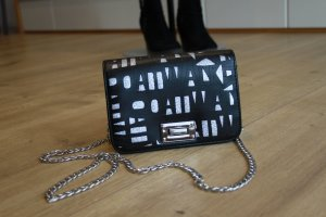 Catwalk Clutch black-silver-colored