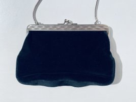 Kleine Vintage Abendtasche aus schwarzem Samt