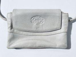 Kleine Vintage-Handtasche aus hellgrauem Leder - crossbody