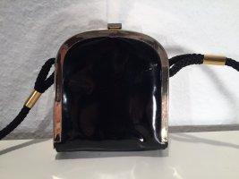 Kleine Vintage Handtasche Lack und Gold