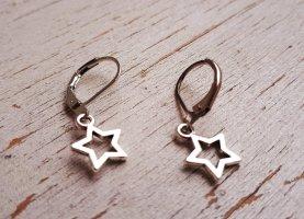 Kleine Vintage Silberne Sterne Ohrringe