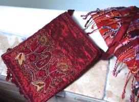 Mini Bag carmine-dark red synthetic