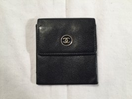 Chanel Wallet black-gold-colored leather