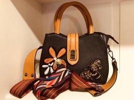 Mini sac brun noir-orange