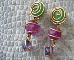 Vintage Clip d'oreille multicolore