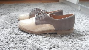 KMB Wingtip Shoes gold-colored-grey brown