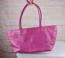 Knall Pink Orange Leder Handtasche Nicole Pietag Casual Trapez Tasche Bag Handbag