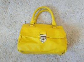 Knallgelbe kleine Handtasche