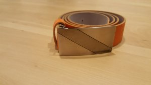 Bernd Götz Leather Belt orange leather