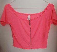 CoolCat Camicia cropped rosa