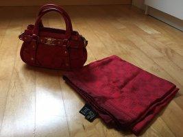 Knallrote Minitasche mit Tuch von Versace