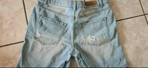 Amisu Denim Shorts white-azure