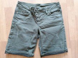 Short en jean kaki