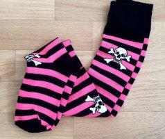 Legwarmers black-neon pink