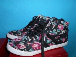 Knöchelhohe Sneaker mit Blumenmuster Größe 37,5/38